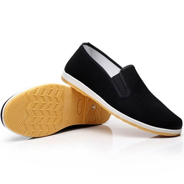 92d7562ea17 Loafers Men Canvas Shoes Man Sneakers Casual Shoes Slip On Flat Black  Moccasin Trainers Sneakers-