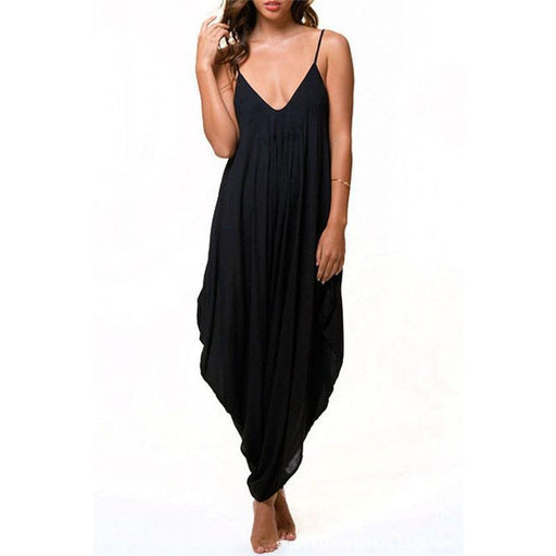 Long Bodysuit Summer Womens Harem Romper Jumpsuit Combinaison Femme Elegant-Jumpsuits-Topcool Fashion(Wholesaler&Drop shipping)-Style One-S-EpicWorldStore.com