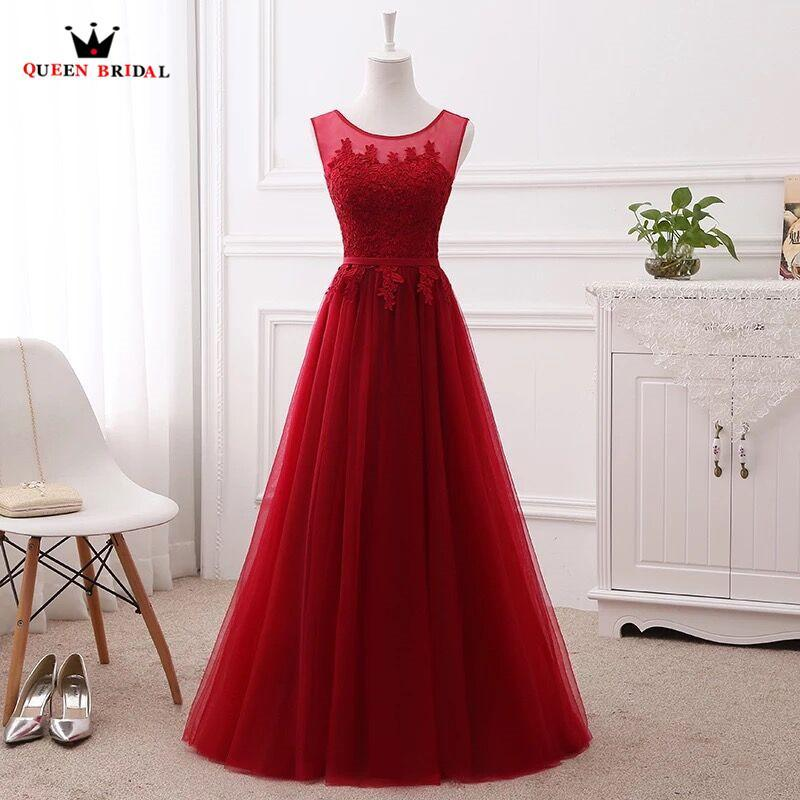 Long Lace Evening Dresses Formal Elegant Party Gown Prom Dress Wine Red Pink  Gray Purple Blue 1a15220e3e8f