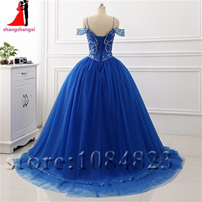 Long Quinceanera Prom Dresses Off Shoulder Beaded Dance Ball Gown Plus Size  Party Dress Vestidos