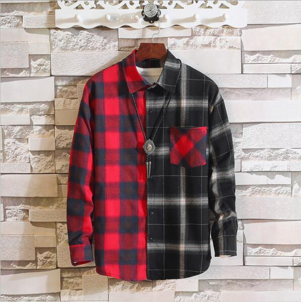 Long Sleeve Flannel Plaid Casual Men Shirt Button Upclothes-Home-RAZA Store-ASIAN SIZE C01 [200004890]-S FOR 155 CM 55KG-EpicWorldStore.com