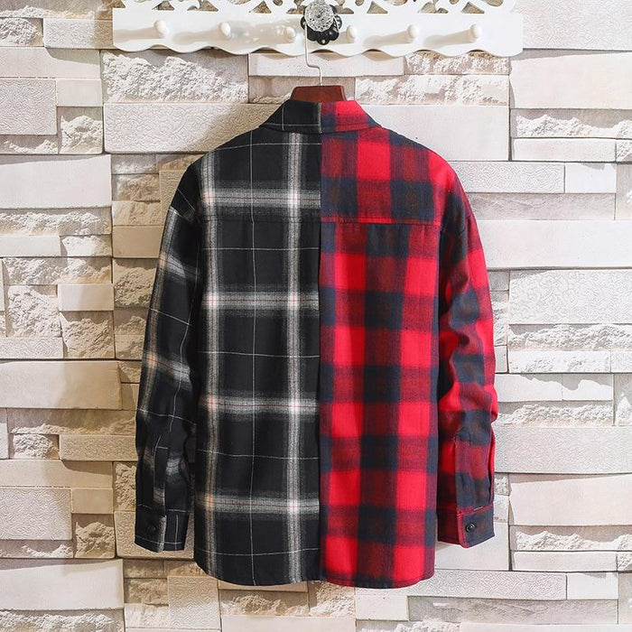Long Sleeve Flannel Plaid Casual Men Shirt Button Upclothes-Home-RAZA Store-DS494 ASIAN SIZE A-S FOR 155 CM 55KG-EpicWorldStore.com