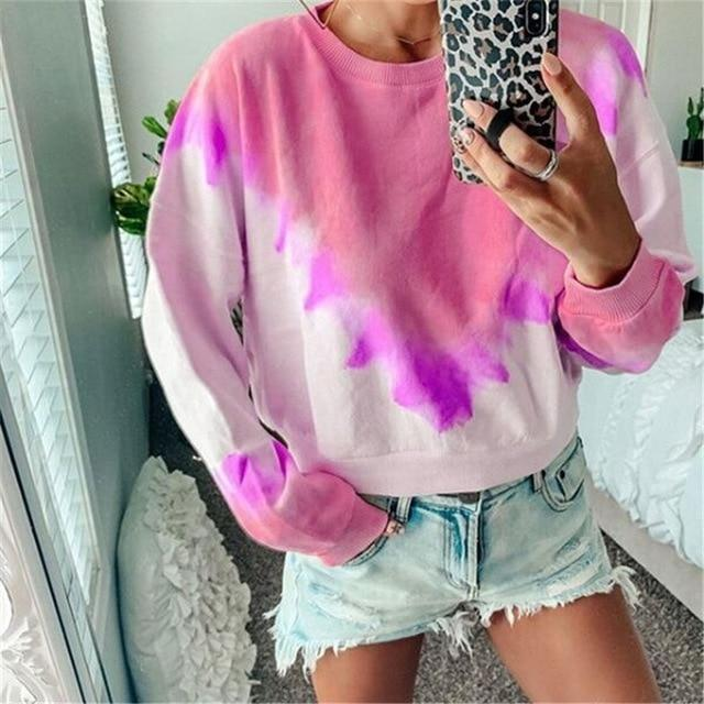 Long Sleeve T Shirt Women Casual Rainbow Tops Tee Woman Clothes-T-Shirts-Shop4398050 Store-C Red-S-EpicWorldStore.com