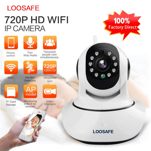 Loosafe Ip Camera Wifi Hd 720P Onvif Video Surveillance Kamera Alarm Security Network Home Ip Camera-LOOSAFE Official Store-F2-720P-EU Plug-EpicWorldStore.com