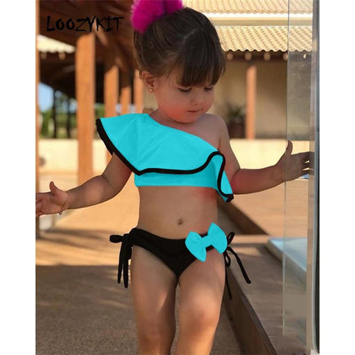 Loozykit Swimsuit For Teen Girls Summer Baby Kids Girl Two Piece Swimwear Water Sports Bikini Swim-Body Suits-Vitalitat Store-pink-S-EpicWorldStore.com