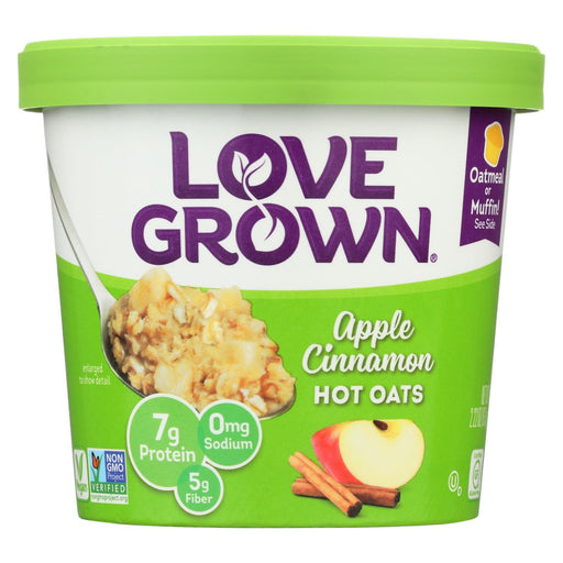 Love Grown Foods Hot Oats - Apple And Cinnamon - Case Of 8 - 2.22 Oz.-Eco-Friendly Home & Grocery-Love Grown Foods-EpicWorldStore.com