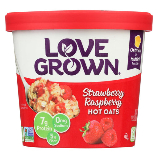 Love Grown Foods Hot Oats - Strawberry And Raspberry - Case Of 8 - 2.22 Oz.-Eco-Friendly Home & Grocery-Love Grown Foods-EpicWorldStore.com