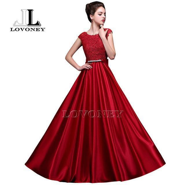 Lovoney S306 Stylish See Through Plus Size Prom Dresses A-Line Floor-Length  Long Formal Dress