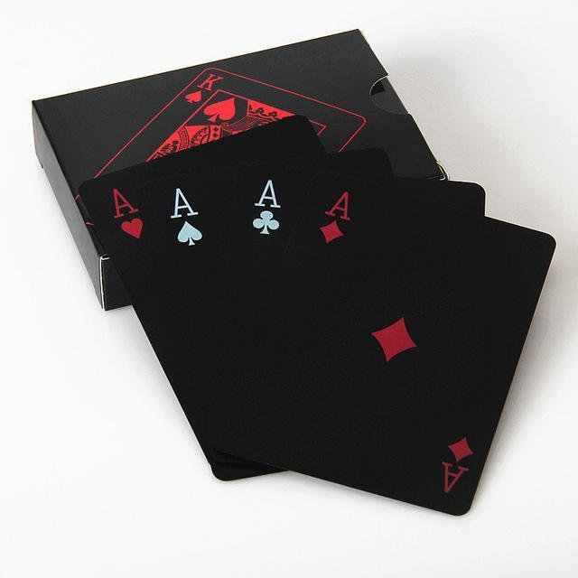 L.Tang High Quality Black Plastic Pvc Poker Waterproof Magic Box-Packed Playing Cards Creative-Entertainment-TNT Sport-Red paper box-EpicWorldStore.com