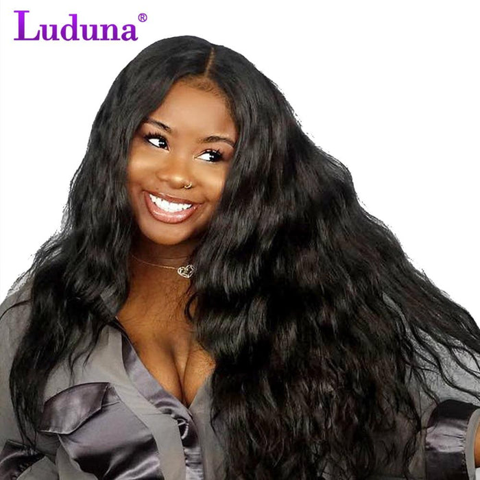 Lace Wigs Luduna Peruvian Straight 360 Lace Frontal Wig Pre Plucked With Baby Hair 150% Density Lace Front Human Hair Wigs Remy Hair 8-24
