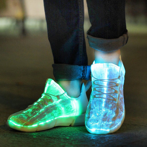 Luminous Sneakers Glowing Light Up Shoes For Kids White Led Sneakers Children Flashing Shoes With-Sneakers-Uncle Jerry 's Store-1-EpicWorldStore.com