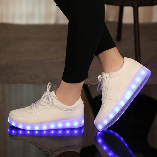 Luminous Sneakers/Usb Children Shoes With Light Up For Kids Boys&Girls Basket Led Enfant Growing-Children's Shoes-Mater Kom Official Store-Black-1-EpicWorldStore.com