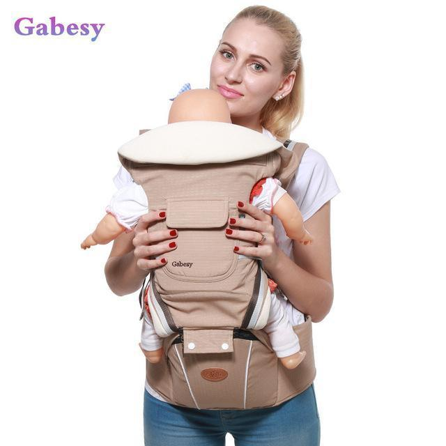 Luxury 9 In 1 Hipseat Ergonomic Baby Carrier 360 Mochila Portabebe Baby Sling Backpack Kangaroos-Activity & Gear-lebaby Store-khaki-EpicWorldStore.com