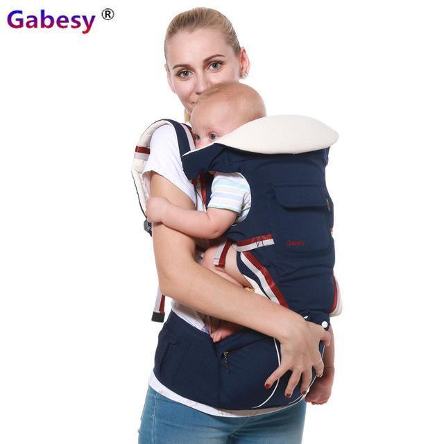 Luxury 9 In 1 Hipseat Ergonomic Baby Carrier 360 Mochila Portabebe Baby Sling Backpack Kangaroos-Activity & Gear-lebaby Store-Navy Blue-EpicWorldStore.com