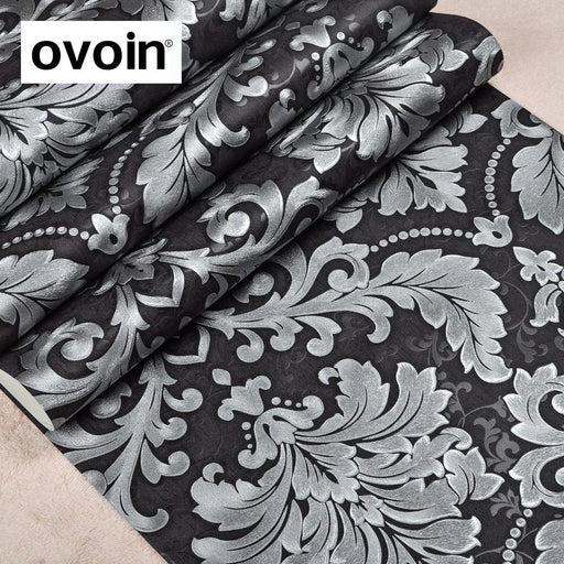Luxury Modern Metallic Damask Vinyl Wallpaper Wall Paper Bedroom Living Room Wallpapers Roll-ovoin Official Store-A00102-EpicWorldStore.com