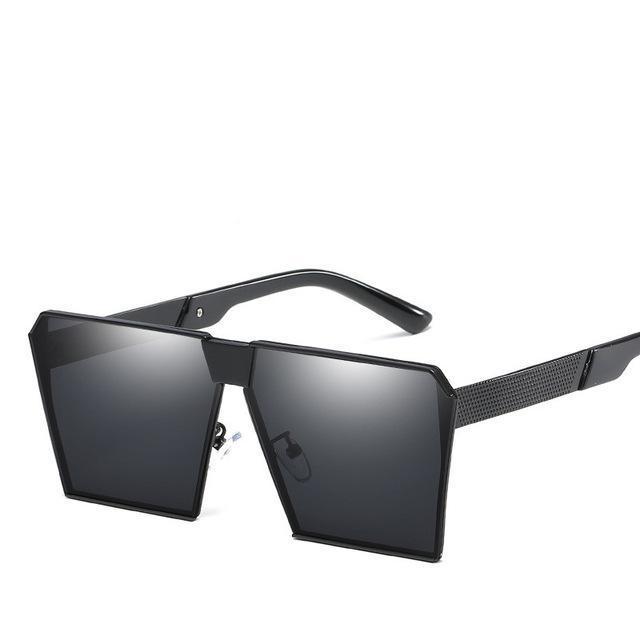 Luxury Vintage Square Rimless Sunglasses Women Brand Designer Driving Sun Glasses For Women Men-Sunglasses-God is a girl-Black C6-EpicWorldStore.com