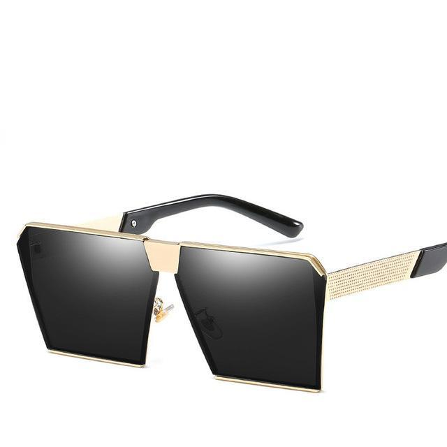 Luxury Vintage Square Rimless Sunglasses Women Brand Designer Driving Sun Glasses For Women Men-Sunglasses-God is a girl-Gold F Black C11-EpicWorldStore.com