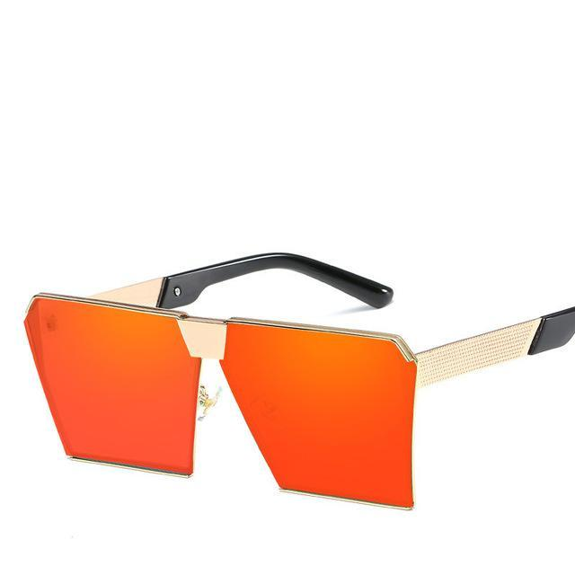 Luxury Vintage Square Rimless Sunglasses Women Brand Designer Driving Sun Glasses For Women Men-Sunglasses-God is a girl-Gold F red C15-EpicWorldStore.com