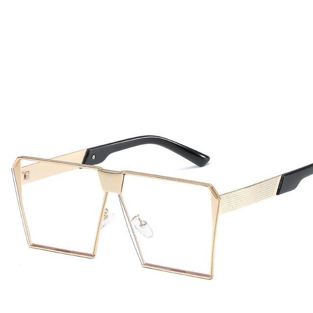 Luxury Vintage Square Rimless Sunglasses Women Brand Designer Driving Sun Glasses For Women Men-Sunglasses-God is a girl-Gold Plain C4-EpicWorldStore.com