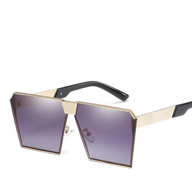 Luxury Vintage Square Rimless Sunglasses Women Brand Designer Driving Sun Glasses For Women Men-Sunglasses-God is a girl-Gray C7-EpicWorldStore.com