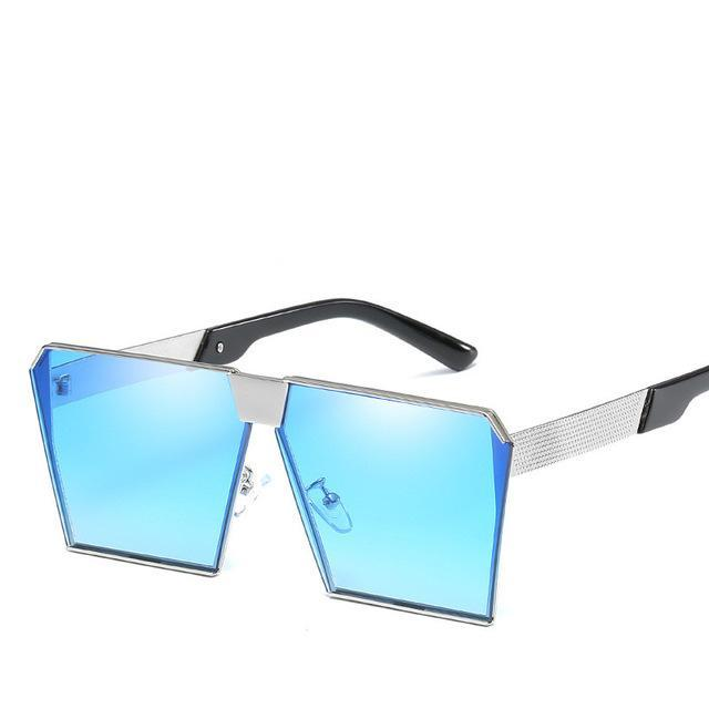 Luxury Vintage Square Rimless Sunglasses Women Brand Designer Driving Sun Glasses For Women Men-Sunglasses-God is a girl-light blue C9-EpicWorldStore.com