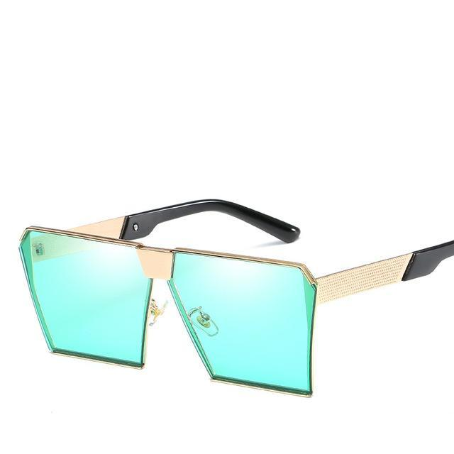 Luxury Vintage Square Rimless Sunglasses Women Brand Designer Driving Sun Glasses For Women Men-Sunglasses-God is a girl-Light Green C2-EpicWorldStore.com