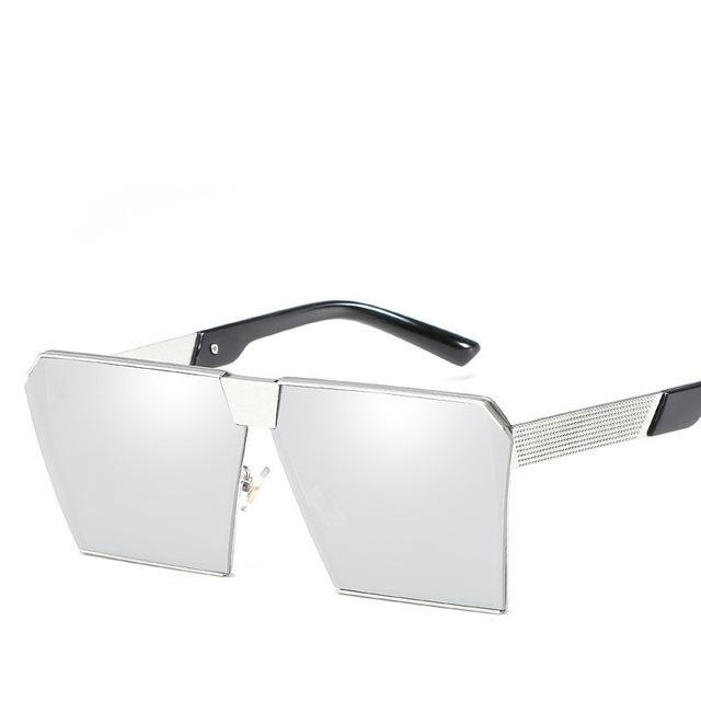 Luxury Vintage Square Rimless Sunglasses Women Brand Designer Driving Sun Glasses For Women Men-Sunglasses-God is a girl-silver C17-EpicWorldStore.com