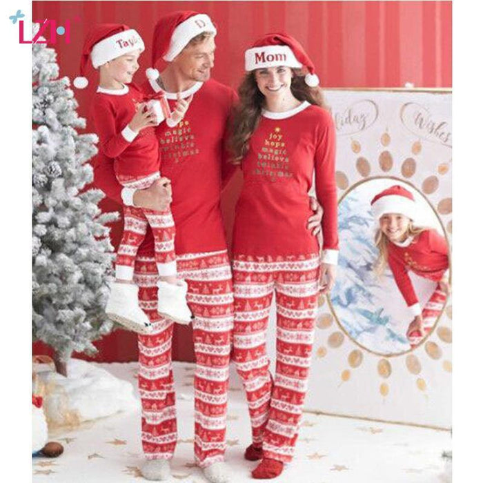 33afbfedce37 Lzh Family Matching Clothes Winter Family Christmas Pajamas Mother Father  Son Outfits-Family Matching Outfits