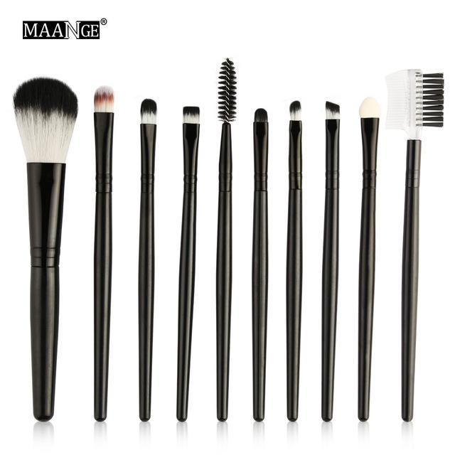 Maange 10/18Pcs/Pack Makeup Brushes Tool Set Cosmetic Podwer Eye Shadow Foundation Blush Blending-Makeup-MAANGE Official Store-10pcs HB 5550-EpicWorldStore.com
