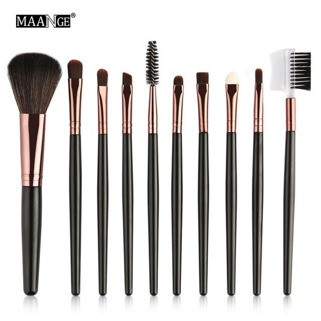 Maange 10/18Pcs/Pack Makeup Brushes Tool Set Cosmetic Podwer Eye Shadow Foundation Blush Blending-Makeup-MAANGE Official Store-10pcs HK 5550-EpicWorldStore.com