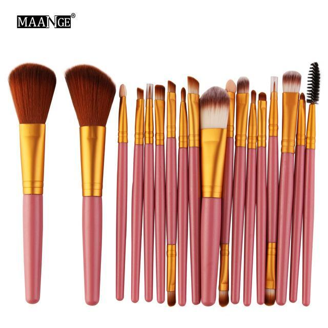 Maange 10/18Pcs/Pack Makeup Brushes Tool Set Cosmetic Podwer Eye Shadow Foundation Blush Blending-Makeup-MAANGE Official Store-FJ 5444-EpicWorldStore.com