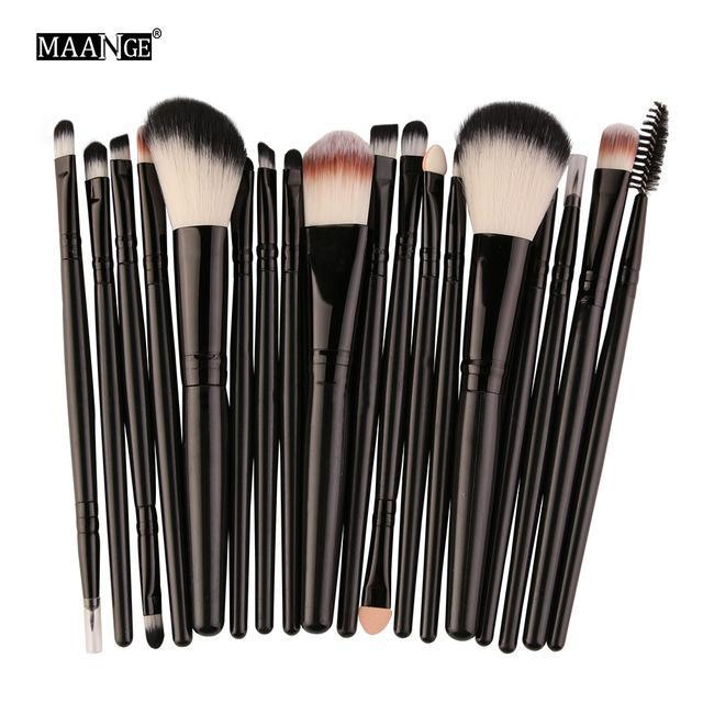 Maange 10/18Pcs/Pack Makeup Brushes Tool Set Cosmetic Podwer Eye Shadow Foundation Blush Blending-Makeup-MAANGE Official Store-HB 5444-EpicWorldStore.com