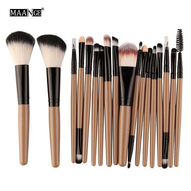 Maange 10/18Pcs/Pack Makeup Brushes Tool Set Cosmetic Podwer Eye Shadow Foundation Blush Blending-Makeup-MAANGE Official Store-JH 5444-EpicWorldStore.com