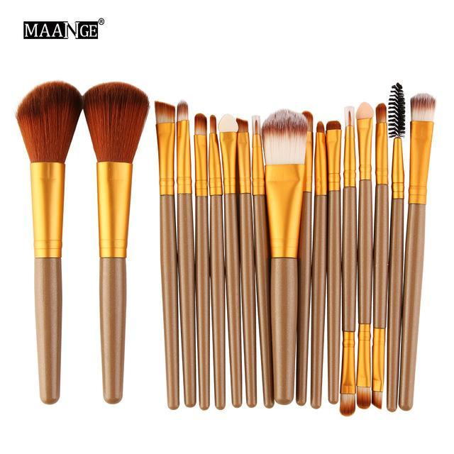 Maange 10/18Pcs/Pack Makeup Brushes Tool Set Cosmetic Podwer Eye Shadow Foundation Blush Blending-Makeup-MAANGE Official Store-JJ 5444-EpicWorldStore.com