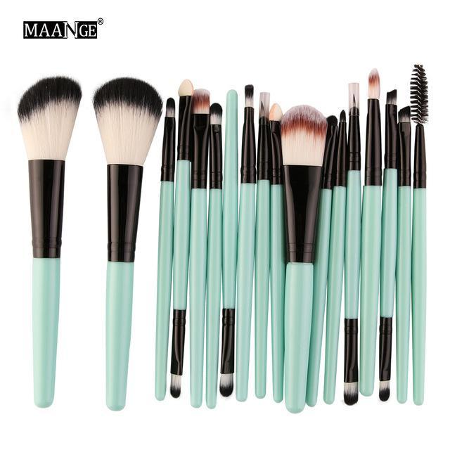 Maange 10/18Pcs/Pack Makeup Brushes Tool Set Cosmetic Podwer Eye Shadow Foundation Blush Blending-Makeup-MAANGE Official Store-LH 5444-EpicWorldStore.com