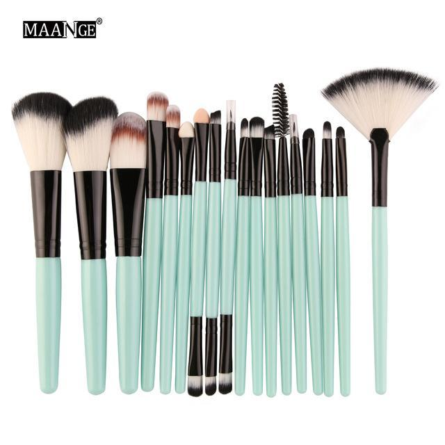 Maange 10/18Pcs/Pack Makeup Brushes Tool Set Cosmetic Podwer Eye Shadow Foundation Blush Blending-Makeup-MAANGE Official Store-LH 5445-EpicWorldStore.com