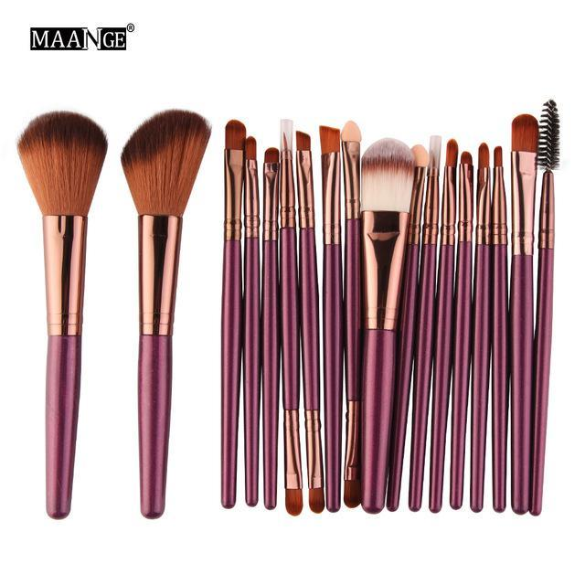 Maange 10/18Pcs/Pack Makeup Brushes Tool Set Cosmetic Podwer Eye Shadow Foundation Blush Blending-Makeup-MAANGE Official Store-ZK 5444-EpicWorldStore.com