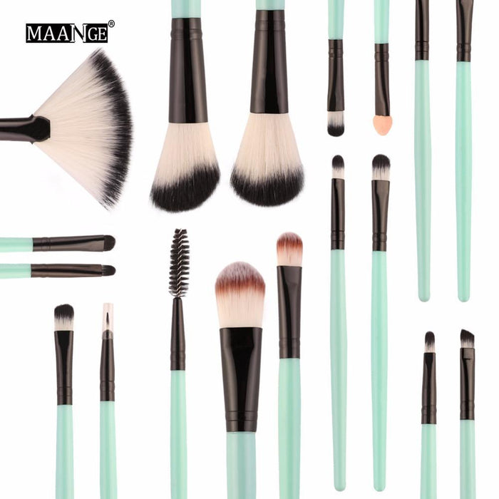 Maange 10/18Pcs/Pack Makeup Brushes Tool Set Cosmetic Podwer Eye Shadow Foundation Blush Blending-Makeup-MAANGE Official Store-ZK 5445-EpicWorldStore.com