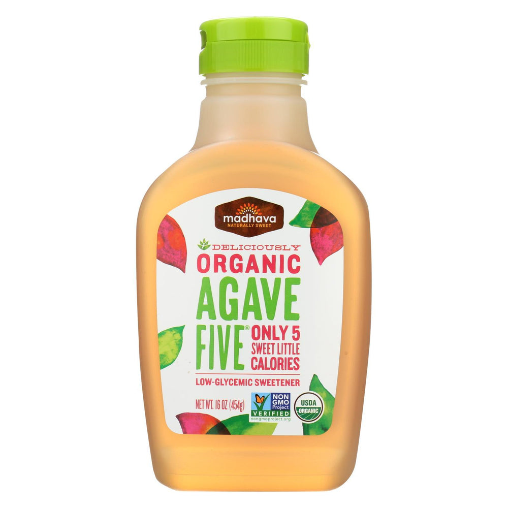 Madhava Honey Organic Agave Five Nectar - Case Of 6 - 16 Oz.-Eco-Friendly Home & Grocery-Madhava Honey-EpicWorldStore.com