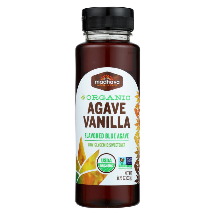 Madhava Honey Organic Agave Nectar - Vanilla - Case Of 6 - 11.75 Fl Oz.-Eco-Friendly Home & Grocery-Madhava Honey-EpicWorldStore.com