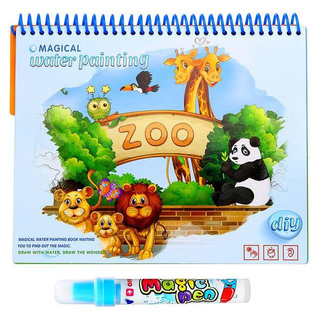 Magic Water Drawing Book Coloring Book Doodle With Magic Pen Painting  Drawing Board Coloring Book
