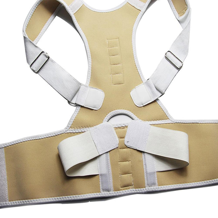 Magnetic Posture Corrector Neoprene Back Corset Brace Straightener Shoulder Back Belt Spine-Health Care-Pro White Store-White-4XL-EpicWorldStore.com