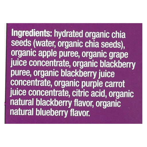 Mamma Chia Squeeze Vitality Snack - Blackberry Bliss - Case Of 16 - 3.5 Oz.-Eco-Friendly Home & Grocery-Mamma Chia-EpicWorldStore.com