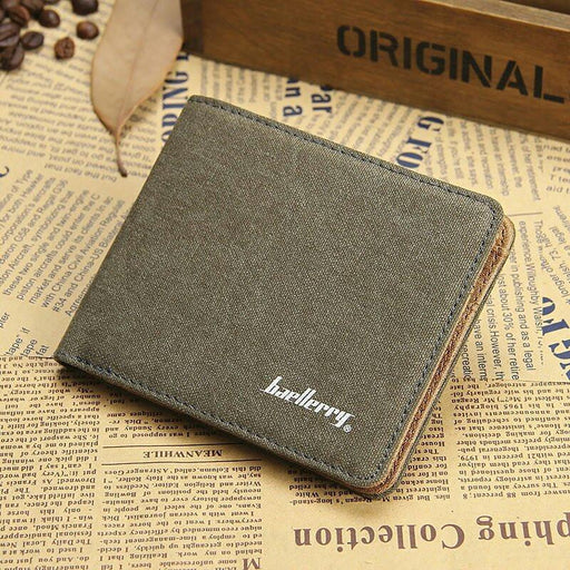 Man Canvas Mens Wallets Top Quality Wallet Card Holder Multi Pockets Credit Cards Purse For Male-PassionFancy Store-Black-EpicWorldStore.com