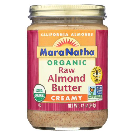 Maranatha Natural Foods Almond Butter - Creamy And Raw - Case Of 6 - 12 Oz.-Eco-Friendly Home & Grocery-Maranatha Natural Foods-EpicWorldStore.com