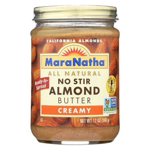 Maranatha Natural Foods Almond Butter - Creamy No Stir - Case Of 6 - 12 Oz-Eco-Friendly Home & Grocery-Maranatha Natural Foods-EpicWorldStore.com