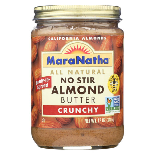 Maranatha Natural Foods Almond Butter - No Stir - Crunch - Case Of 6 - 12 Oz-Eco-Friendly Home & Grocery-Maranatha Natural Foods-EpicWorldStore.com