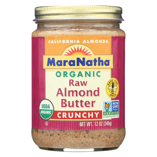 Maranatha Natural Foods Organic Raw Almond Butter - Crunchy - Case Of 6 - 12 Oz.-Eco-Friendly Home & Grocery-Maranatha Natural Foods-EpicWorldStore.com