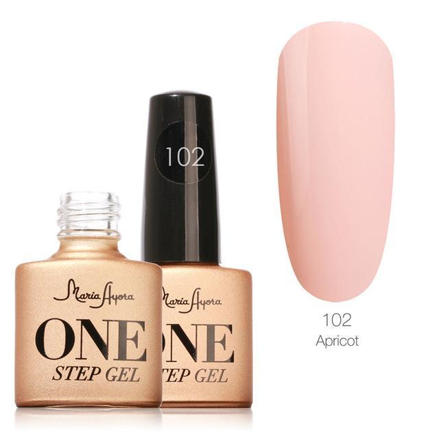 Maria Ayora One Step Nail Gel 7Ml Long-Lasting Led Uv Lamp Nail Gel Polish Lacquer Varnish No Base-Nails & Tools-Maria Makeup Store-102-EpicWorldStore.com