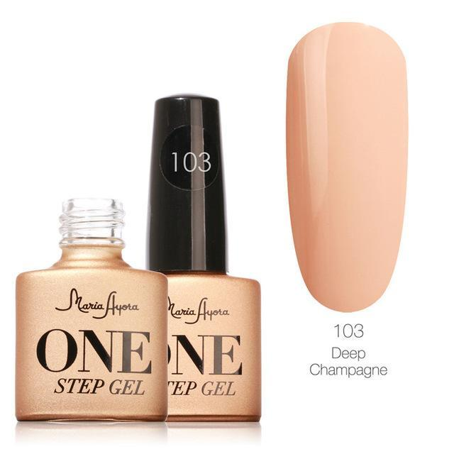 Maria Ayora One Step Nail Gel 7Ml Long-Lasting Led Uv Lamp Nail Gel Polish Lacquer Varnish No Base-Nails & Tools-Maria Makeup Store-103-EpicWorldStore.com
